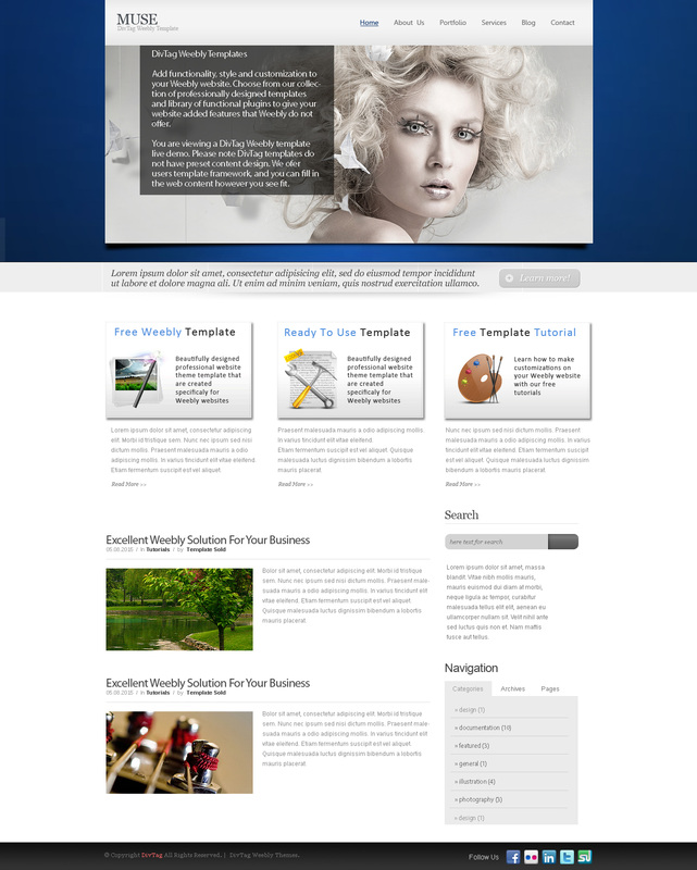 Weebly theme gallary orchid premium weebly website design for Weebly site templates
